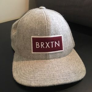 Brixton Grey & Red Men's Hat